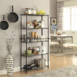 Home Style Polvo Cubierto 5-Tier NSF Steel Wire Shelving Organizador
