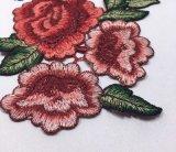 Água da alta qualidade - laço solúvel do bordado da correção de programa da flor para a decoração