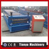 Venda quente no rolo da folha da telha de telhadura do metal da camada dobro de Ghana que dá forma à máquina para a venda