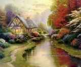 Pintura al óleo colgante de Wall Art Beautiful Landscape en Canvas (ERL-068)