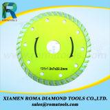 Лезвия Turbo диаманта Romatools сильные для гранита, мрамора, бетона, керамического