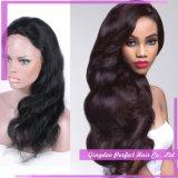 Pleines perruques de cheveux humains de lacet de Glueless pour des femmes de couleur