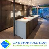 Module de cuisine gris de meubles de maison de compartiment de fini de placage (ZY 1190)