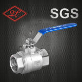 Steel di acciaio inossidabile Threaded 2PCS Ball Valve con Lock Device