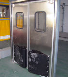 Porte de sortie Anti-Poussiéreuse d'oscillation de coursive de bas-côté de porte de garantie d'acier inoxydable (HF-J222)