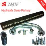 Boyau hydraulique de spirale du fil d'acier quatre (EN856 4SH)