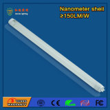 Haute luminosité 18W 130-160lm / W Tube LED T8 pour usines
