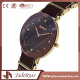 防水大きいダイヤルのステンレス鋼の方法水晶腕時計