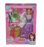 Le plastique fait sur commande d'impression et la boîte se pliante de papier pour Barbie joue (les boîtes de cadeau)