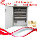 CE Approved Full Automatic Chicken Egg Incubator per Eggs 1232