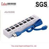 Usb-Blitz-Laufwerk-große Geschwindigkeit 7 Port-USB-Nabe 3.0