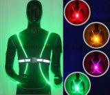Veste reflexiva da veste fluorescente elevada do diodo emissor de luz do corredor da visibilidade