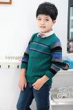 Свитер мальчиков пуловера круглой шеи Карен Ribbed Striped