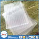 Vier Wand-langes Garantie-Polycarbonat-Blatt für Tageslicht-Haus-Dach