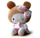 La bambola poco costosa all'ingrosso lavora ciao la peluche alla macchina del gattino