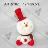 """12 """" Hx6.5 """" L muñeca de la decoración del muñeco de nieve de la carrocería de la bola del hilado"""