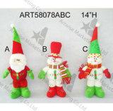 """"""" muñeco de nieve derecho de la decoración de la Navidad de la carrocería de la bola del hilado de H 28"""