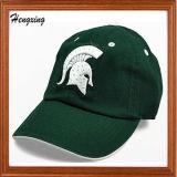 Изготовленный на заказ шлем бейсбола вышивки зеленого цвета 3D