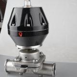 Válvula de esfera pneumática de alta temperatura sanitária da Tri-Braçadeira do aço inoxidável