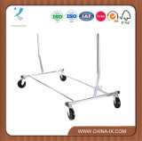 Single pieghevole Rail Salesman Rolling Rack per la memoria