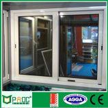 Schiebendes Aluminiumfenster mit oberstem örtlich festgelegtem Panel