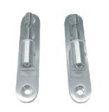 アルミニウム単一のガラスドアロックおよびヒンジ