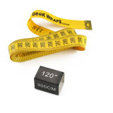 Fita de medição de pano amarelo do projeto 120inch 3m do logotipo
