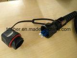 Odva - шнур заплаты оптического волокна LC двухшпиндельный Ftta