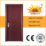家(SC-P135)のための商業木の安全PVC内部ドア