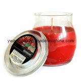 Bougies parfumées de choc en verre clair de luxe dans la boîte-cadeau