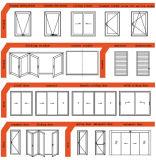 二重窓熱ブレークアルミケースメントウィンドウ/アルミサッシnull