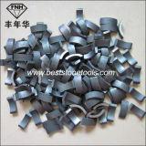 切断の粉砕のための焼結させたダイヤモンドの穿孔機ビットセグメント(dia: 18-800mm)