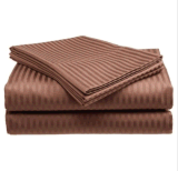 Italienisches Striped 4PC Queen Sheet Set Chocolate