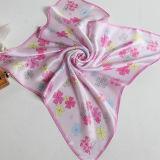 Реальная Silk сатинировка Flowers Multicolor малые квадратные шарфы, шарф Stewardess