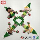 O duende verde caçoa a boneca bonito do brinquedo do OEM do luxuoso do palhaço