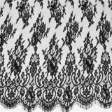 Tela grande branca do laço de Flwower do algodão da alta qualidade