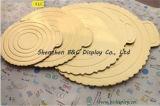 Gold runzelte Kuchen-Vorstand, geprägte Kuchen-Vorstände, stempelschnitt Kuchen-Vorstand mit SGS (B&C-K030)