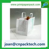 Luxe romantique personnalisé avec le sac de papier tordu par velours de traitement