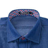 Джинсовая ткань Shirt Short Sleeve Blue лета для Young Men
