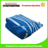 印刷を用いる方法青い縞の綿のジッパーの装飾的な袋