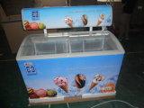 Congelador de vidro da caixa da porta de 290 litros