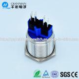 переключатель кнопка металла 4pin 22mm 5A 250VDC микро- плоский (ДОСТИГАЕМОСТЬ TUV CE)