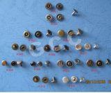 remache del metal del latón de 9m m con el Pin del aluminio