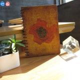 Cahier en spirale de couverture de la fleur A5 pour la promotion (XLX-3296-X01)