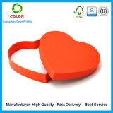 Rectángulo de regalo de encargo del chocolate de la dimensión de una variable del corazón de la alta calidad