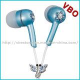 Funky fones de ouvido fones de ouvido únicos com jóias para o Media Player portátil