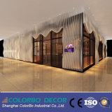 Панель волны стены MDF деревянная обшивая панелями Decorive 3D для предпосылки TV