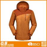 Женщины 3 в 1 куртке способа водоустойчивой теплой