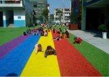 China-neuer willkommener synthetischer Regenbogen-Rasen für Hausgarten