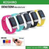 Bluetoothのスマートなスポーツの適性の歩数計のブレスレットバンド腕時計